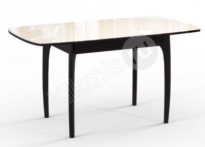 Стол обеденный М15 ДН4 венге/стекло бежевое,столы и стулья для кухни,круглый стол для кухни,купить кухонный стол,деревянный стол, кухонные стулья,мебель столы,стол овальный,журнально обеденный стол,стол трансформер журнальный обеденный, стол обеденный для кухни,обеденные столы и стулья,стол обеденный раскладной,обеденные столы фото,