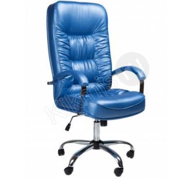 Кресло Болеро, эко кожа голубая тг хром (CHAIRMAN 418),кресло руководителя,кресло руководителя купить,кресло руководителя черное,офисное кресло руководителя, кресло руководителя ch1,кресло руководителя кожа,кресло руководителя chairman,кресло руководителя кожаное, кресло руководителя бюрократ,кресло руководителя москва,кресло руководителя отзывы,кресло офисный,