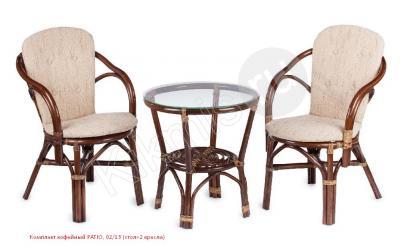 Комплект кофейный из ротанга PATIO, 02/13 (стол+2 кресла) браун,мебель ротанг,мебель ротанг купить,искусственный ротанг мебель,ротанг купить, дача мебель,садовый мебель,кресло ротанг,искусственный ротанг,лоза мебель, мебель ротанг распродажа,искусственный ротанг мебель купить,плетеный ротанг, дачный мебель,плетеный стул кресло,мебель сад,плести мебель,комплект ротанг,