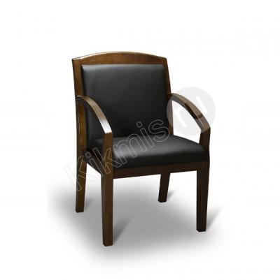Кресло для посетителей Конгресс нат кожа черная/дерево,конференц кресло,конференц кресло купить,конференц кресло купить в москве.