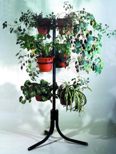 П 2 черная, купить подставку для цветов, подставки для цветов из дерева, подставки под цветы напольные недорого, подставка для цветов из дерева