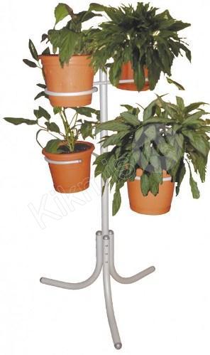 П 2 алюминий, купить подставку для цветов, подставки для цветов из дерева, подставки под цветы напольные недорого, подставка для цветов из дерева