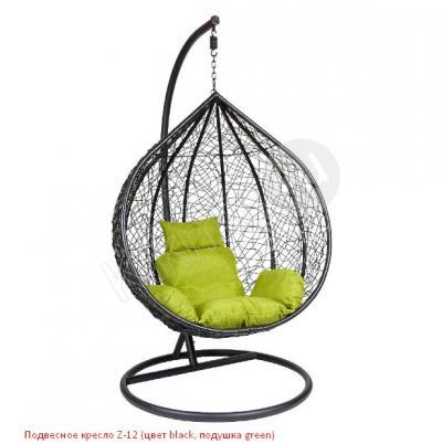 Подвесное кресло Z-12 (цвет black, подушка green),кресло подвесное недорого москва,подвесные кресла купить недорого в москве, подвесное кресло в квартиру,подвесное кресло для дачи,купить кресло качели подвесные, подвесное кресло макраме,плетеное подвесное кресло купить,подвесное кресло качели плетеное, подвесное кресло магазин,кресло фреско подвесное,подвесное кресло из ротанга недорого,