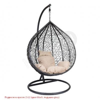 Подвесное кресло Z-12 (цвет black, подушка grey),подвесное кресло магазин,кресло фреско подвесное,подвесное кресло из ротанга недорого, подвесное кресло белое,кресло подвесное садовое,подвесное кресло без стойки, стойка для подвесного кресла,подвесное прозрачное кресло,подвесное кресло фото, детское подвесное кресло купить,подвесное кресло качели фреско,